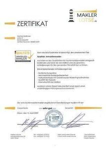 Immobilienmakler Rosenheim zertifikat